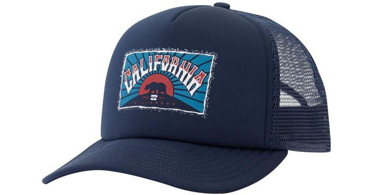 buy online 71593 95f8a Lyst - Billabong Republic Ca Trucker Hat in Blue for Men