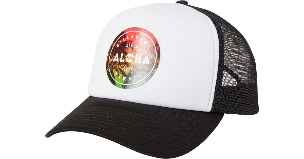 c26b502df2810 ... discount lyst billabong aloha seal hawaii trucker hat in white for men  99e1c 95d81