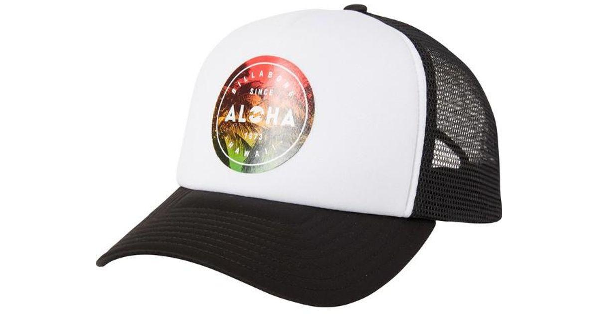 huge discount 01219 dcd58 ... low price lyst billabong aloha seal hawaii trucker hat for men 72b95  ed18c
