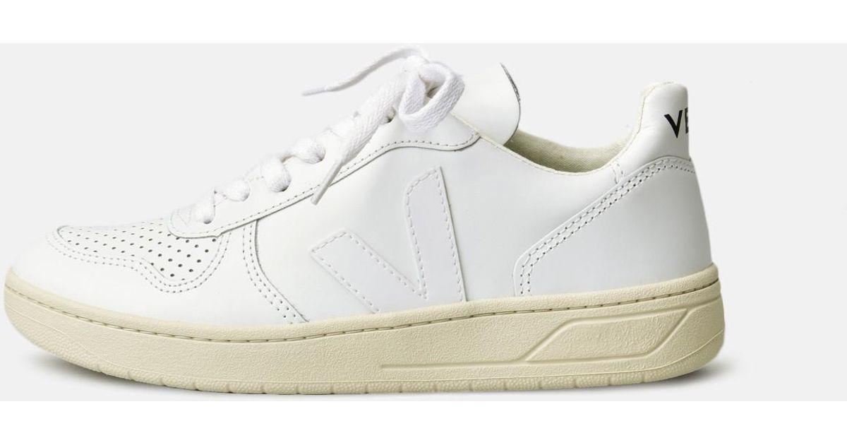 cdf9cbbd425915 Lyst - Veja V10 Leather White Extra White in White - Save 15%