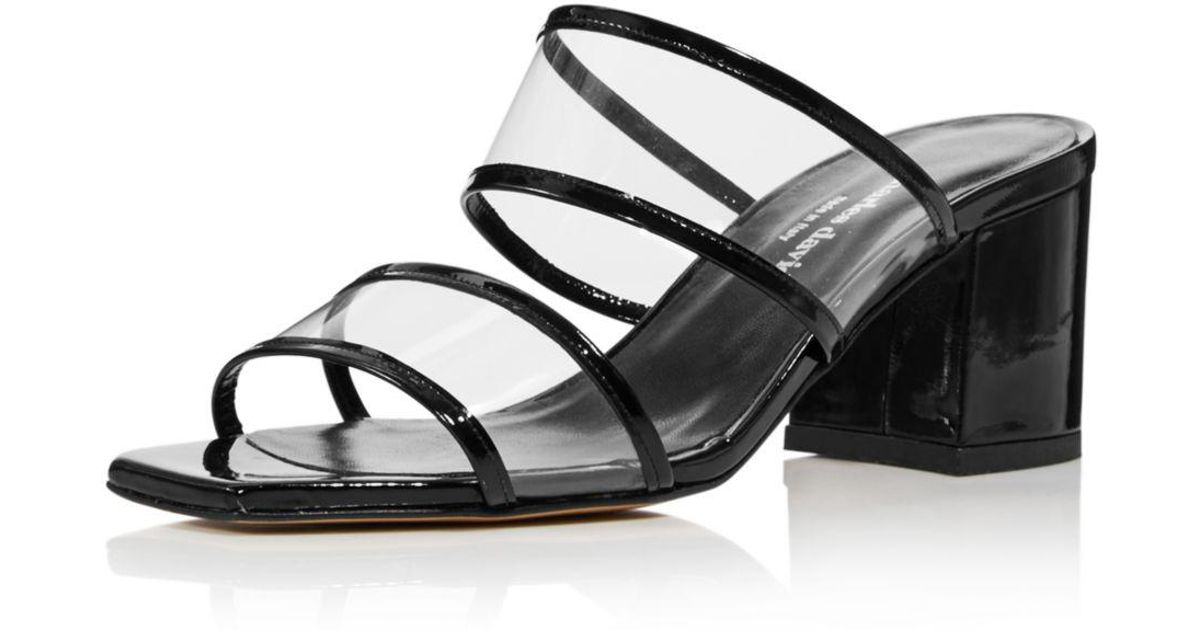 be8799538 Charles David Cally Leather Sandal in Black - Lyst