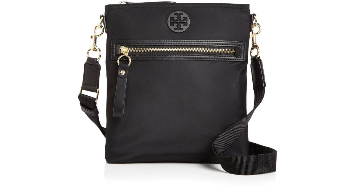 56e1c9365af8 Lyst - Tory Burch Tilda Nylon Swing Pack Crossbody in Black