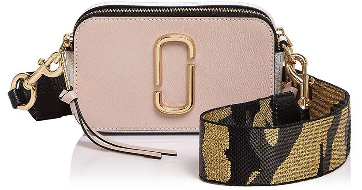 a3ded7197c4a Lyst - Marc Jacobs Snapshot Camo Strap Color Block Leather Camera Bag in  Pink