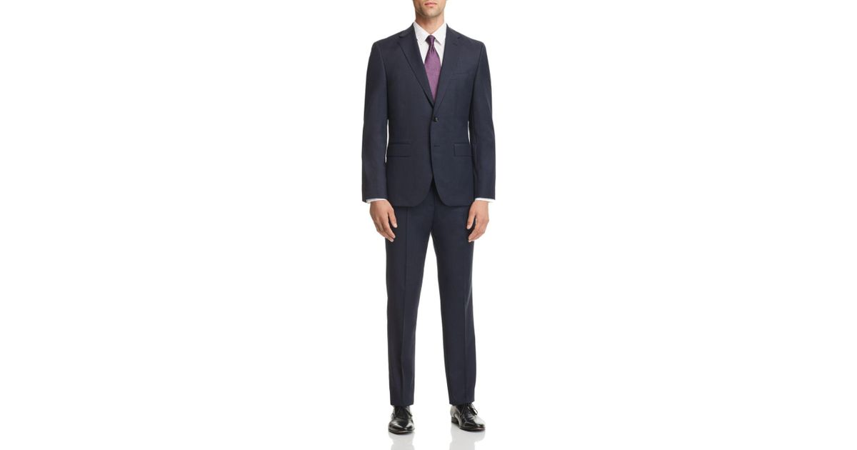 699cf5e6f Lyst - BOSS Micro-houndstooth Johnstons/lenon Regular Fit Wool Suit in Blue  for Men