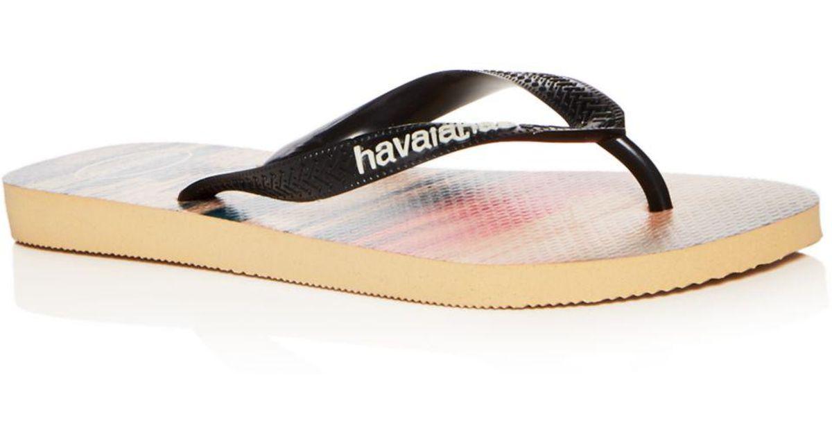 ce5422c99214 Havaianas Men s Hype Beach Print Flip-flops in White for Men - Lyst