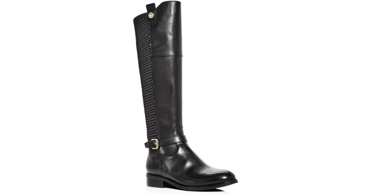 118b36156f7 Lyst - Cole Haan Women s Galina Leather Tall Boots in Black