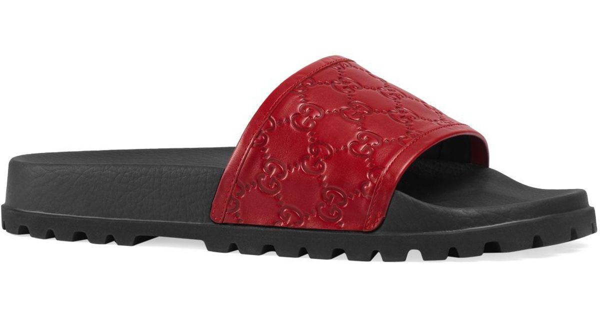 8210e081f1f Lyst - Gucci Sandals Shoes Men in Red for Men