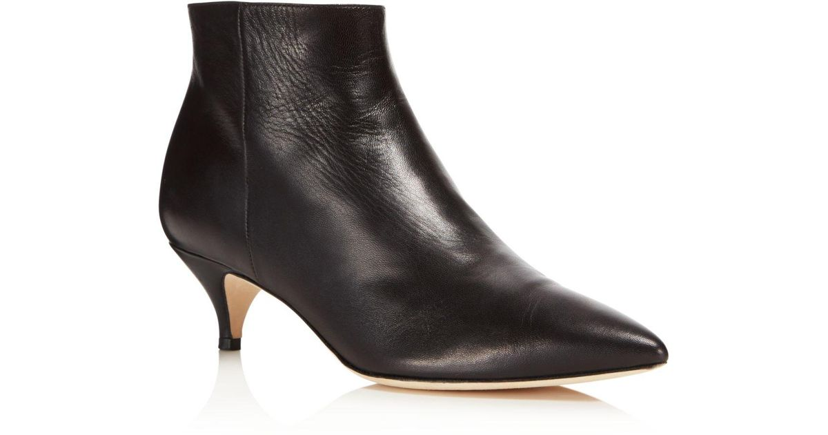 f2b823cbfbac Kate Spade Women s Olly Leather Booties in Black - Lyst