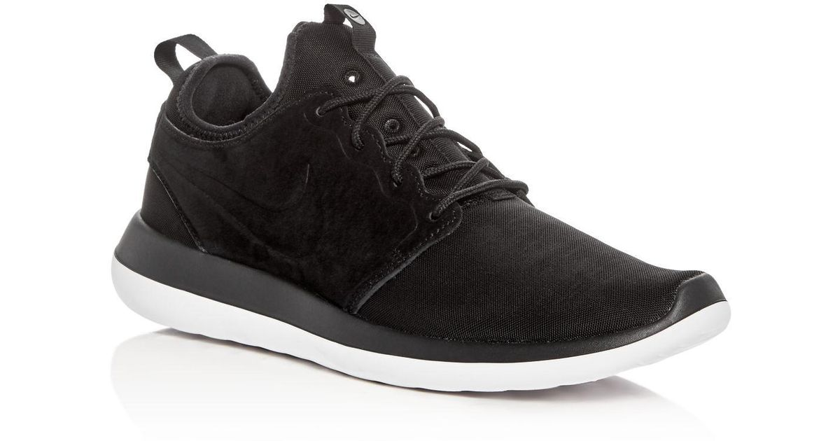 reputable site ee5c4 547e7 Nike Men s Roshe Two Br Lace Up Sneakers in Black for Men - Lyst