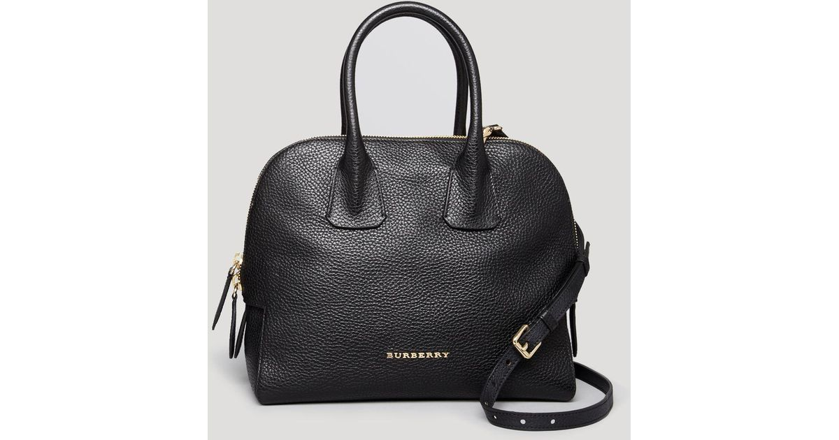 dd3fc52f1bc8 Lyst - Burberry Satchel - London Grainy Leather Small Greenwood Bowling in  Black