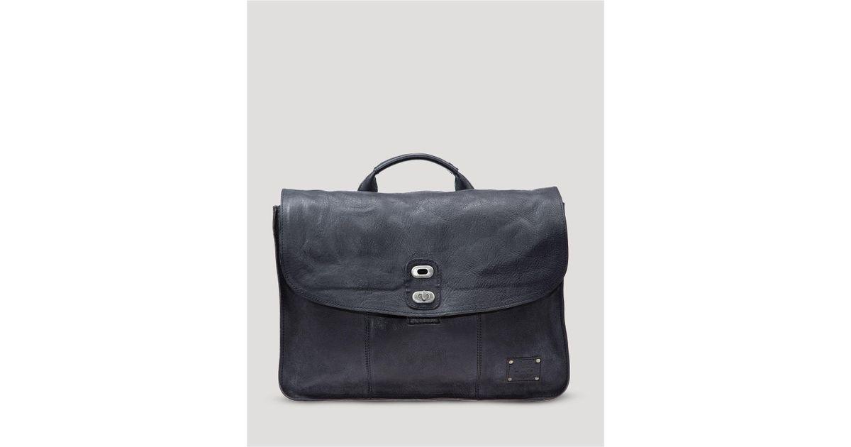 Lyst - Will Leather Goods Kent Messenger Bag in Black for Men 88c9f4783f382