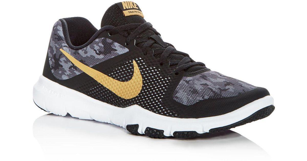 33489444d683 Lyst - Nike Men s Flex Control Camo Lace Up Sneakers in Black for Men