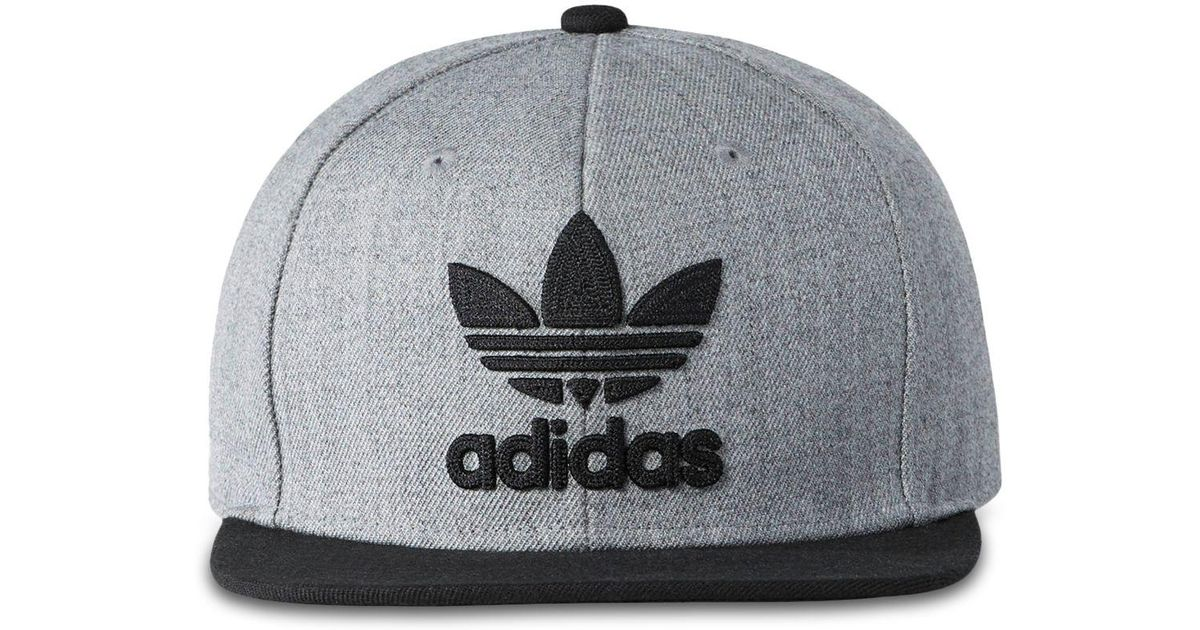 282b12ddb5ae4 adidas Originals Trefoil Chain Snapback Cap in Gray for Men - Lyst