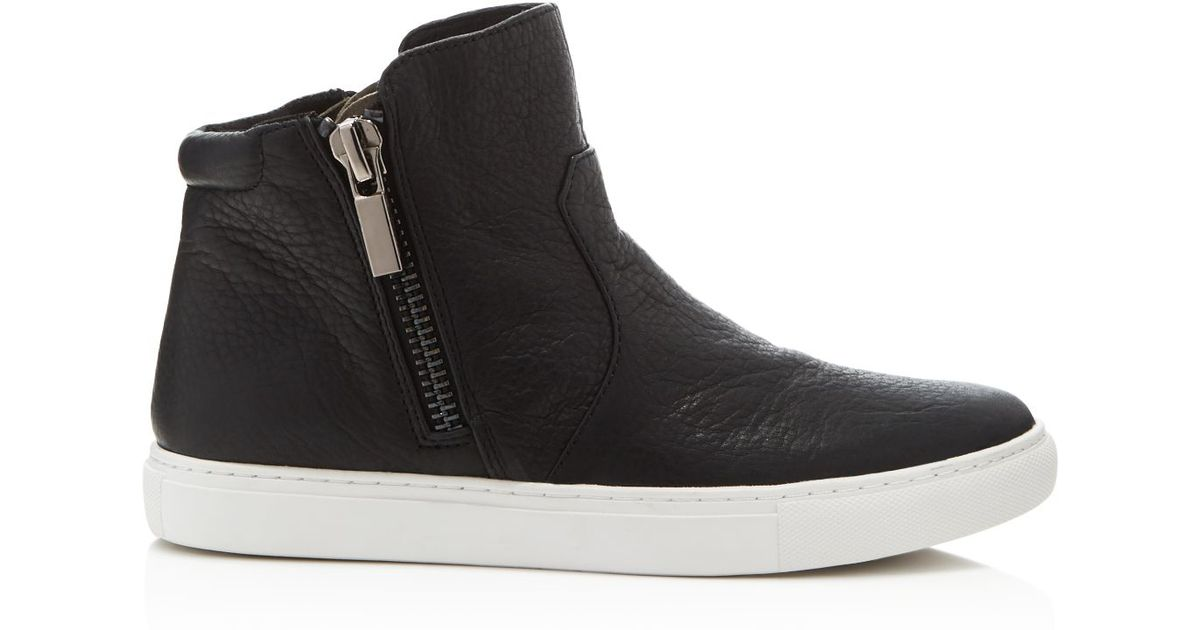 Kenneth Cole Kiera Side Zip Slip On High Top Sneakers In