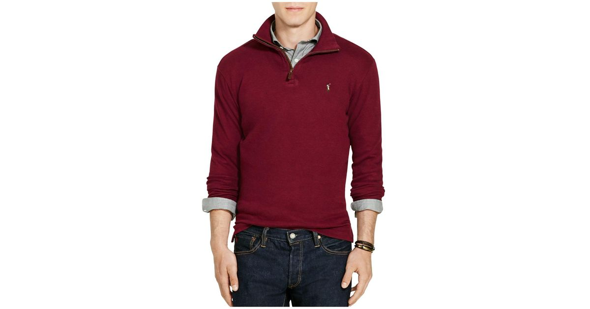 Polo ralph lauren Estate Rib Cotton Pullover Sweater in Red for ...
