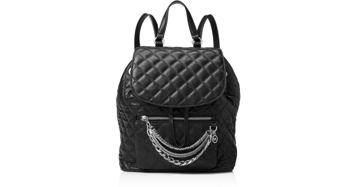 72993b47decb Michael Kors Michael Cheyenne Medium Flap Backpack in Black - Lyst