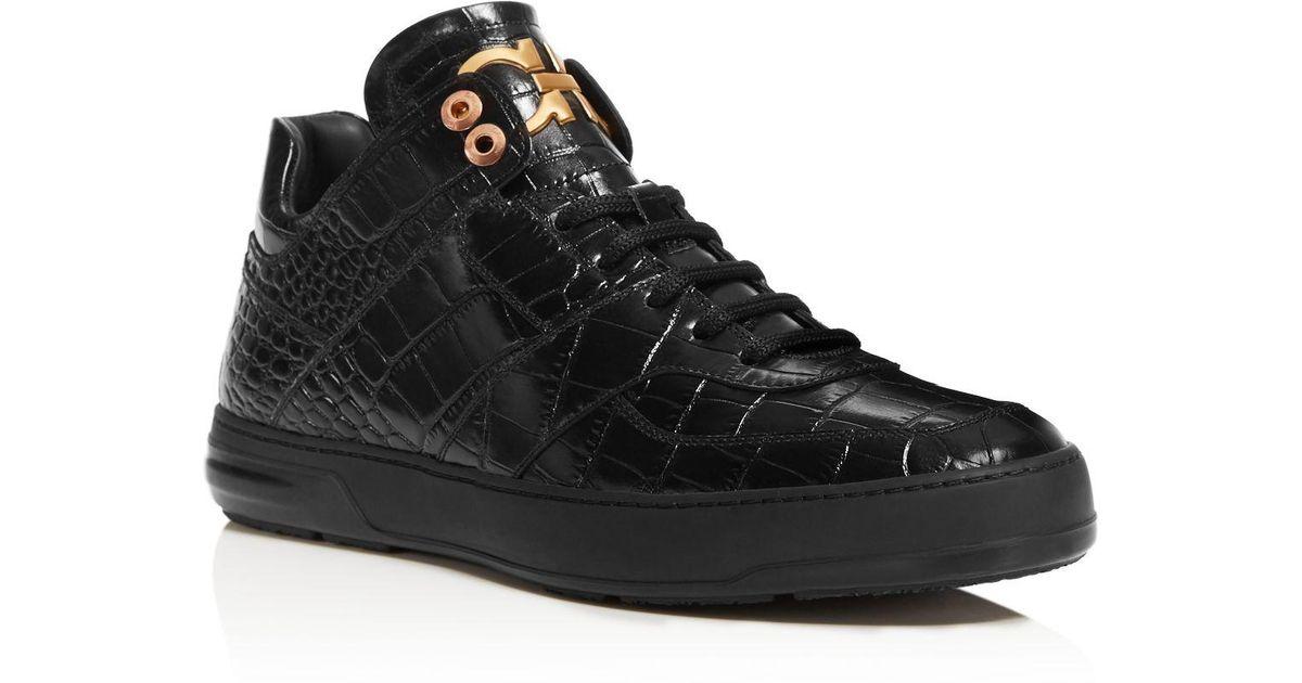 54004d473bb44 Ferragamo Monroe Sneakers in Black for Men - Lyst