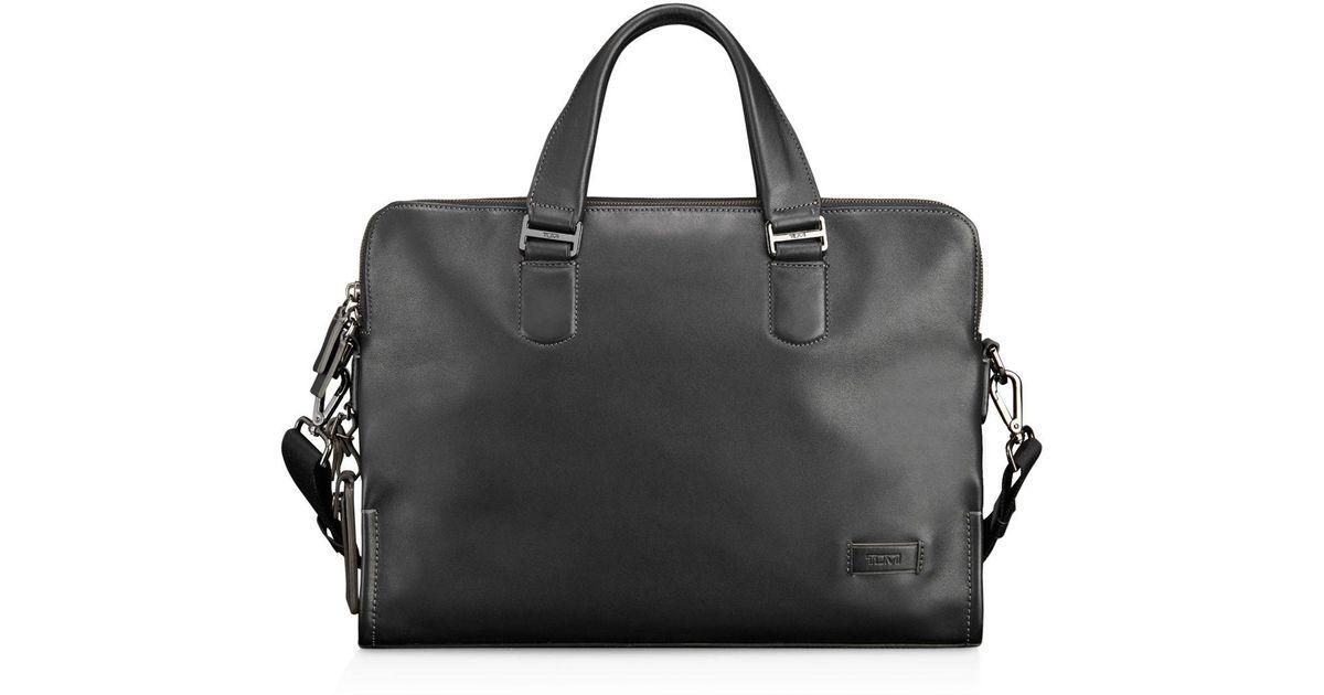 c8d4f3708cc4 Lyst - Tumi Seneca Slim Briefcase in Black for Men