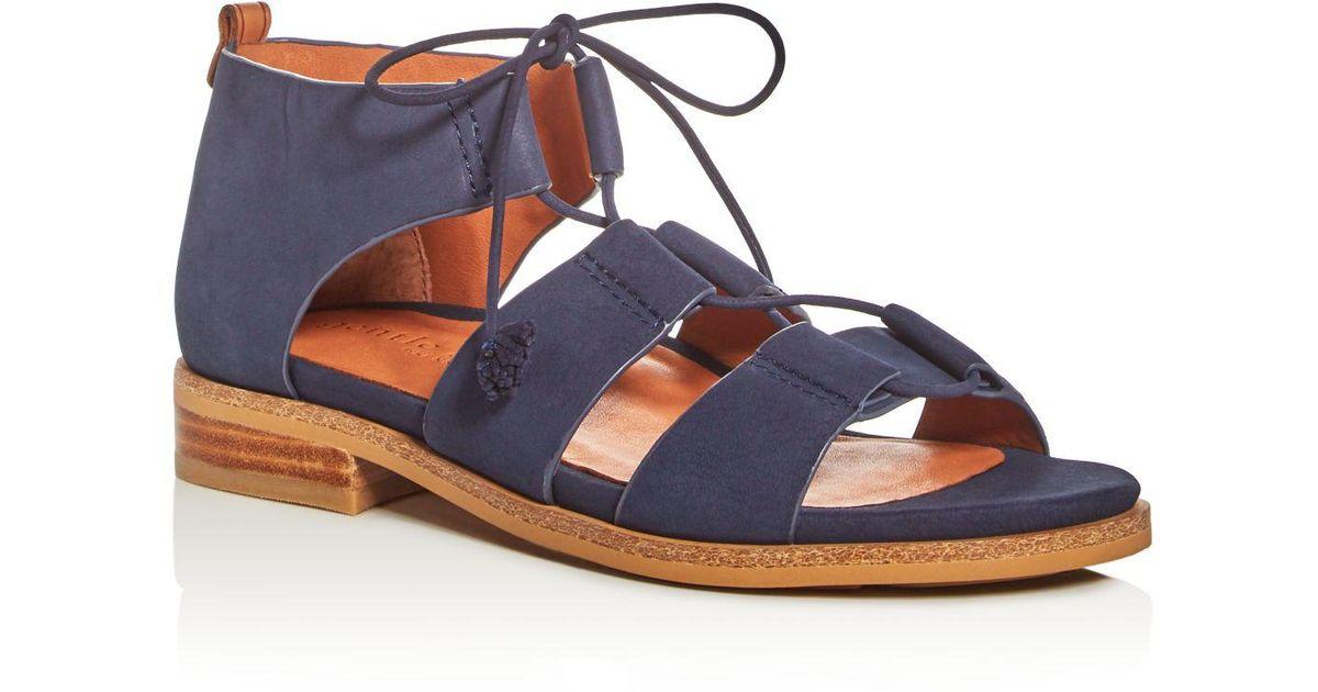 d3cd091de Lyst - Gentle Souls Gem Strappy Lace Up Sandals in Blue