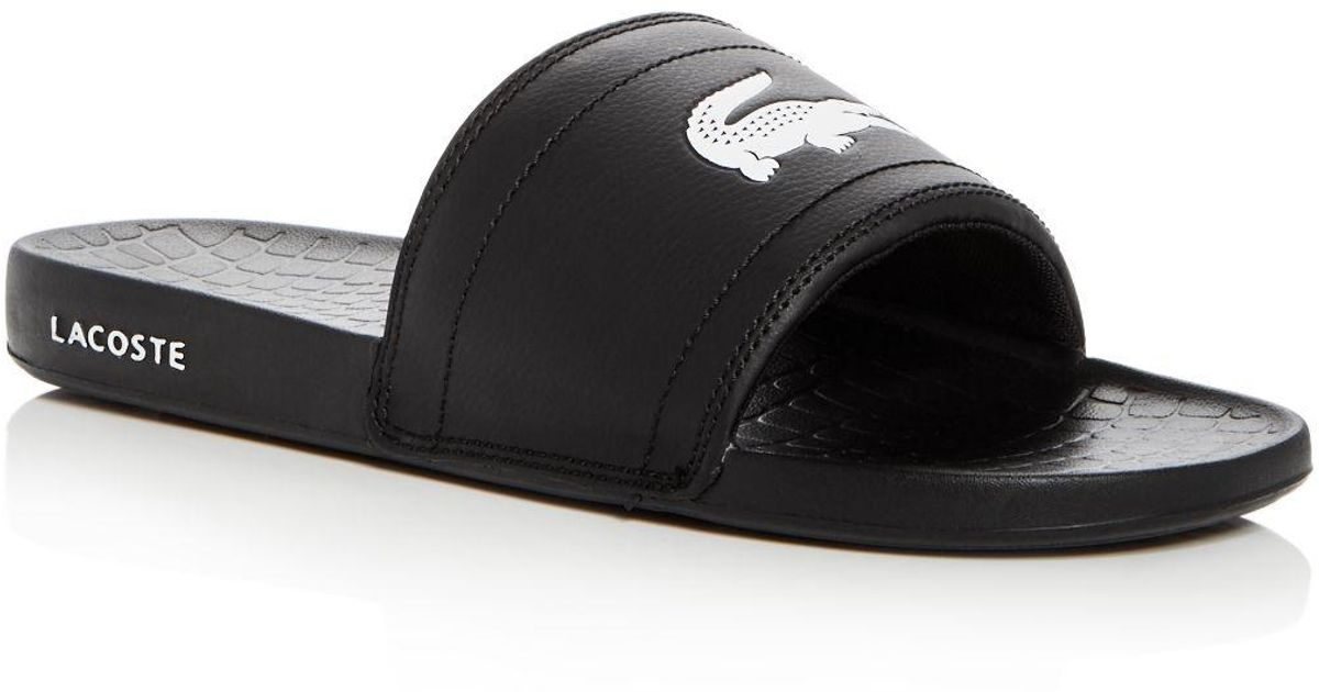 91eb0ddce Lyst - Lacoste Men s Fraisier Slide Sandals in Black for Men