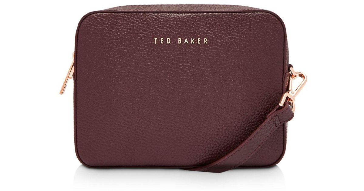 564665e51194 Lyst - Ted Baker Saphire Soft Leather Crossbody Camera Bag in Purple