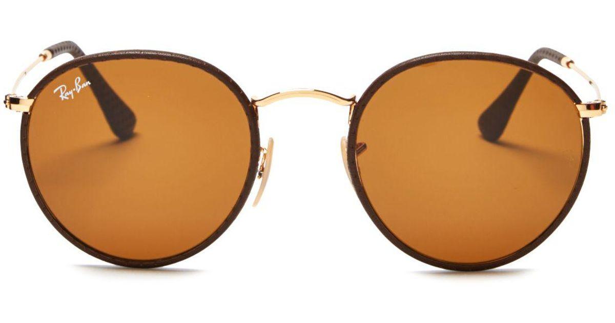 093822b46cb Ray Ban Brown Leather Sunglasses