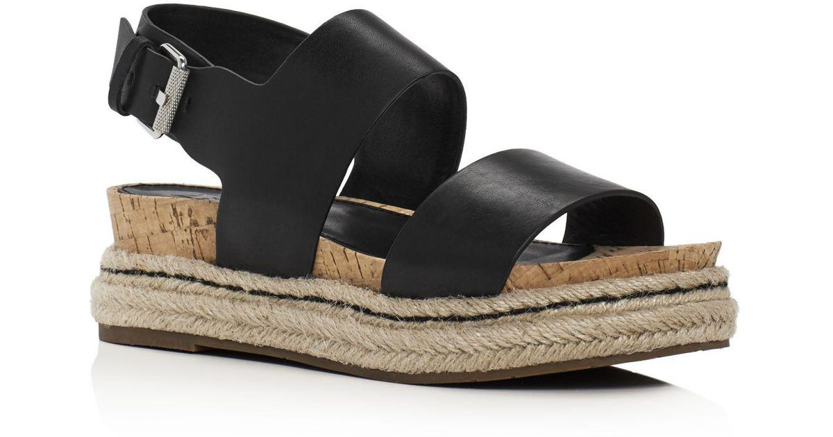 9ce264b6804 Lyst - Marc Fisher Oria Slingback Espadrille Wedge Sandals in Black