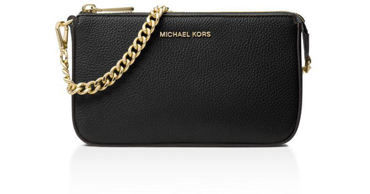 7c37309c7fbc MICHAEL Michael Kors Medium Chain Pouchette in Black - Save 41% - Lyst