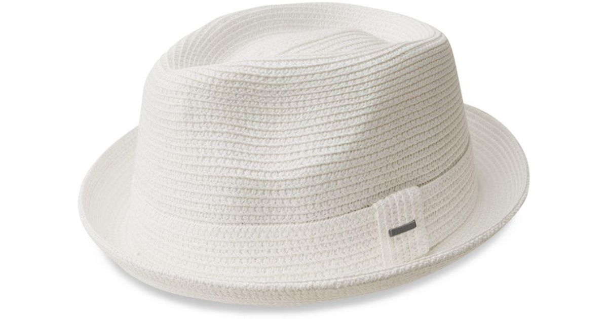 a8044aaf74236 Bailey of Hollywood Billy Braided Straw Hat in White for Men - Lyst