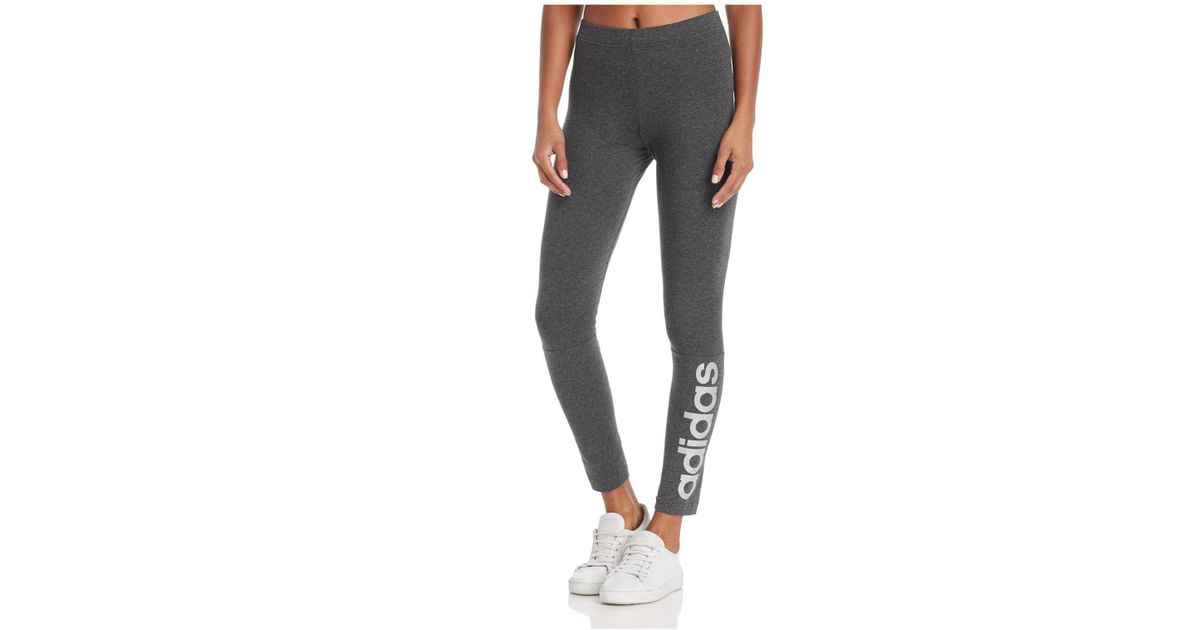5132d980088ad Lyst - adidas Linear Logo Leggings in Gray