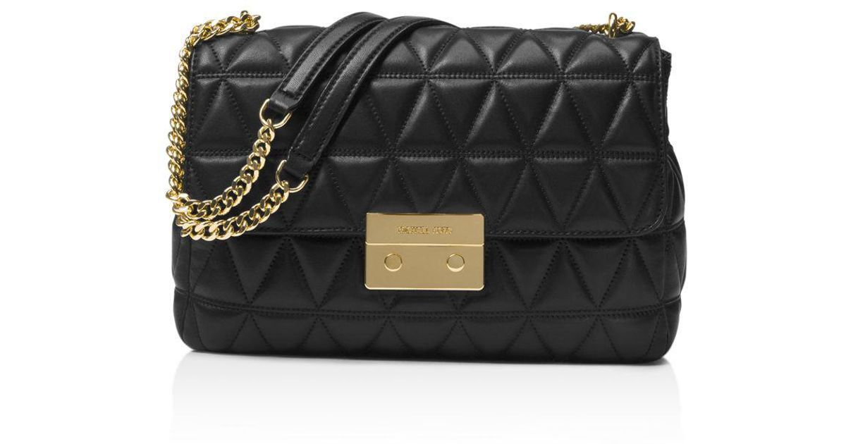 055d0ae55a9a MICHAEL Michael Kors Sloan Chain Quilted Extra-large Leather Shoulder Bag  in Black - Lyst