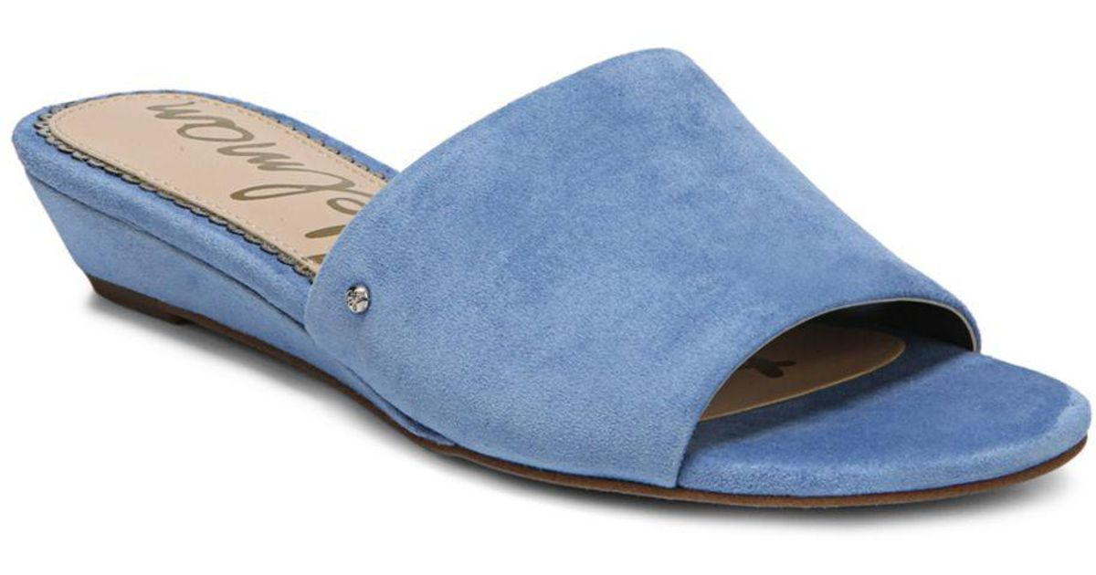20ed920f34d49 Sam Edelman Liliana Wedge Sandal in Blue - Lyst