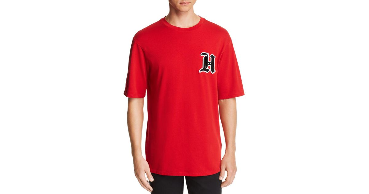 dc3cfede Tommy Hilfiger X Lewis Hamilton Logo-patch Tee in Red for Men - Lyst