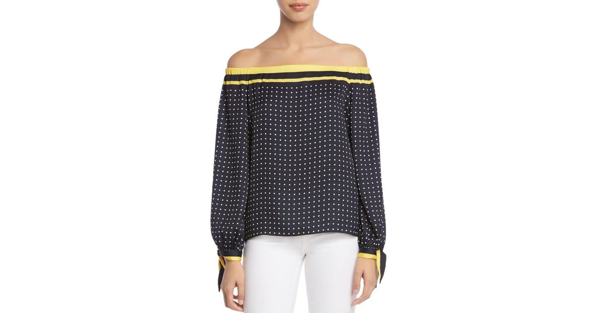 dcd08c594ec6e Lyst - Bailey 44 Tabernacle Polka Dot Off-the-shoulder Top - Save 30%
