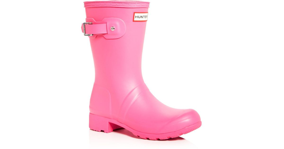 Hunter Women's Original Tour Matte Short Adjustable Calf Back Strap Rain Boots q1SlZ1uG
