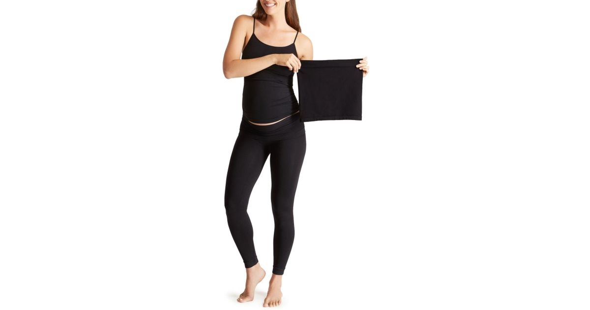 2e20a3e6a32cd Ingrid & Isabel Seamless Cami & Belly Leggings in Black - Lyst