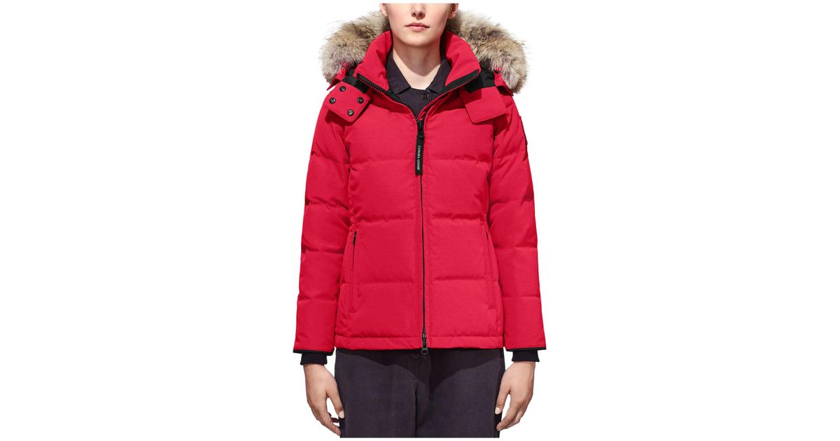 10298d5d1f4 Lyst - Canada Goose Chelsea Down Coat in Red