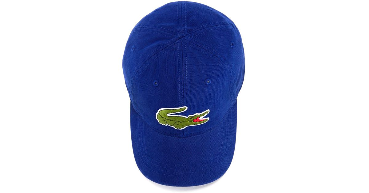 Lyst - Lacoste Big Croc Hat in Blue for Men 30b4bee9c44