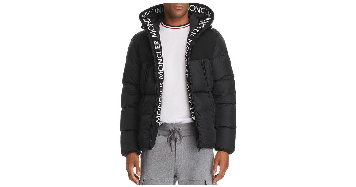 2f12c4be7 Lyst - Moncler Montclar Logo Trim Down Jacket in Black for Men