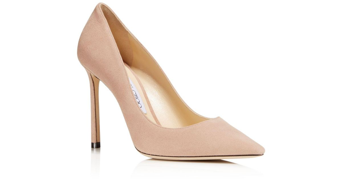 Jimmy choo Women's Romy 100 Ombre Glittered Leather Pointed Toe High-Heel Pumps 4j4Ijl1rD