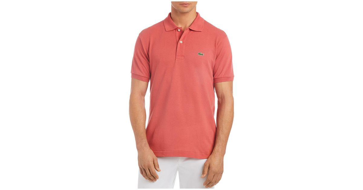 3cebfbaf Lacoste Pique Polo - Classic Fit - 1402438 in Red for Men - Lyst