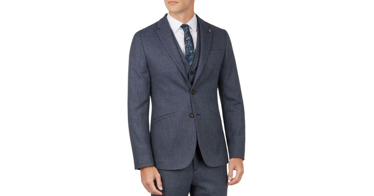 e679c523a Lyst - Ted Baker Bufalo Twill Regular Fit Sport Coat in Blue for Men