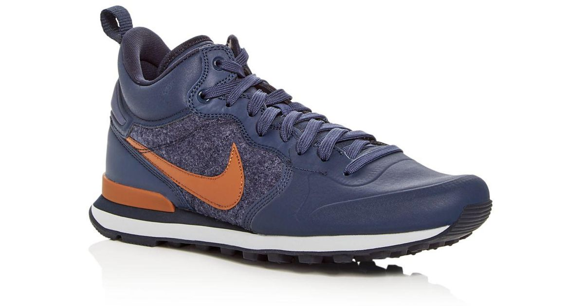 76ddd40285 ... cheapest lyst nike mens internationalist utility lace up sneakers in  blue for men 08587 b8b30