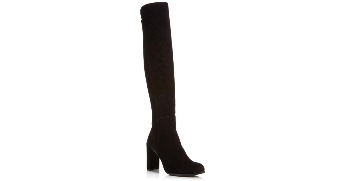 86c47652cdf Lyst - Stuart Weitzman Alljill Suede Over The Knee Boots in Black