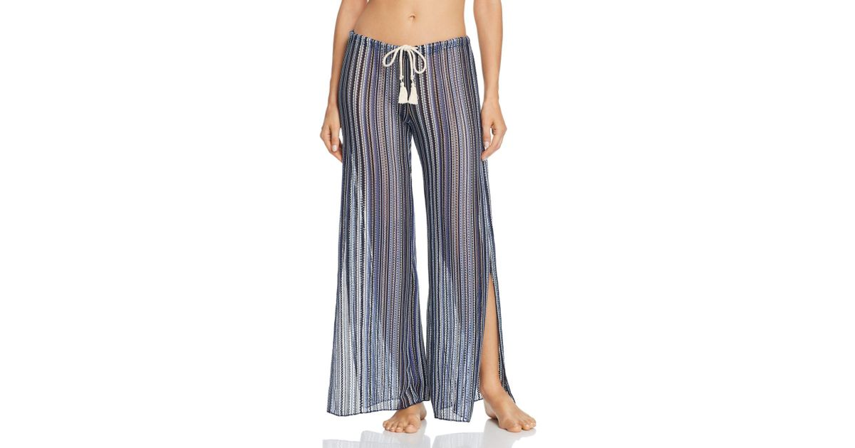 1c13beedf76a9 Becca Pier Side Striped Swim Cover-up Pants in Blue - Lyst