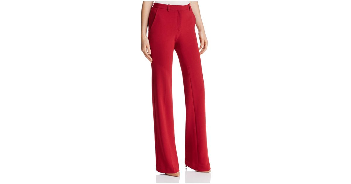 0e8e05ac675dc8 Theory Demetria Flared Admiral Crepe Pants in Red - Lyst