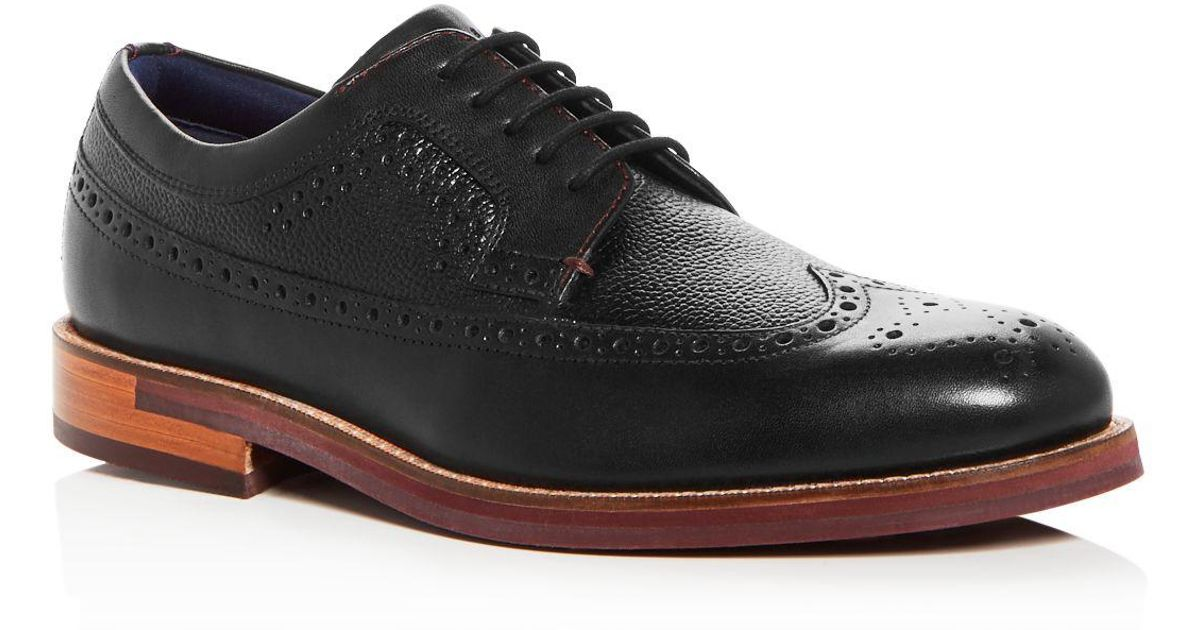 fc6ce270362857 Lyst - Ted Baker Men s Deelani Brogue Leather Oxfords in Black for Men