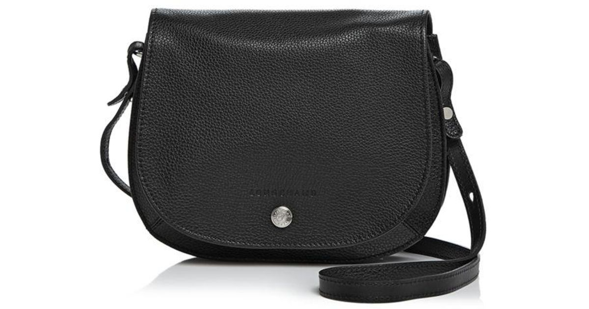 Lyst - Longchamp Le Foulonne Small Leather Saddle Handbag in Black - Save  25% 80ba1a1c1ab2c