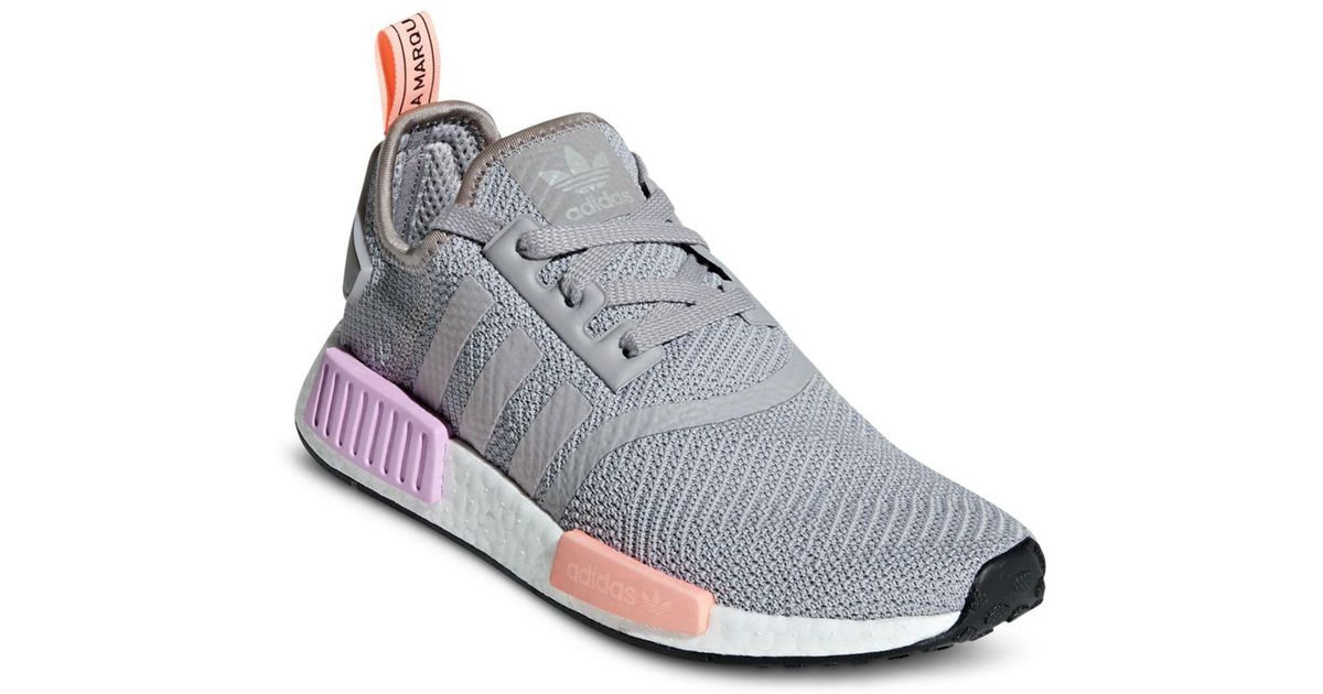 26cd4e839ca4 adidas Women s Nmd R1 Primeknit Sneakers in Gray - Lyst