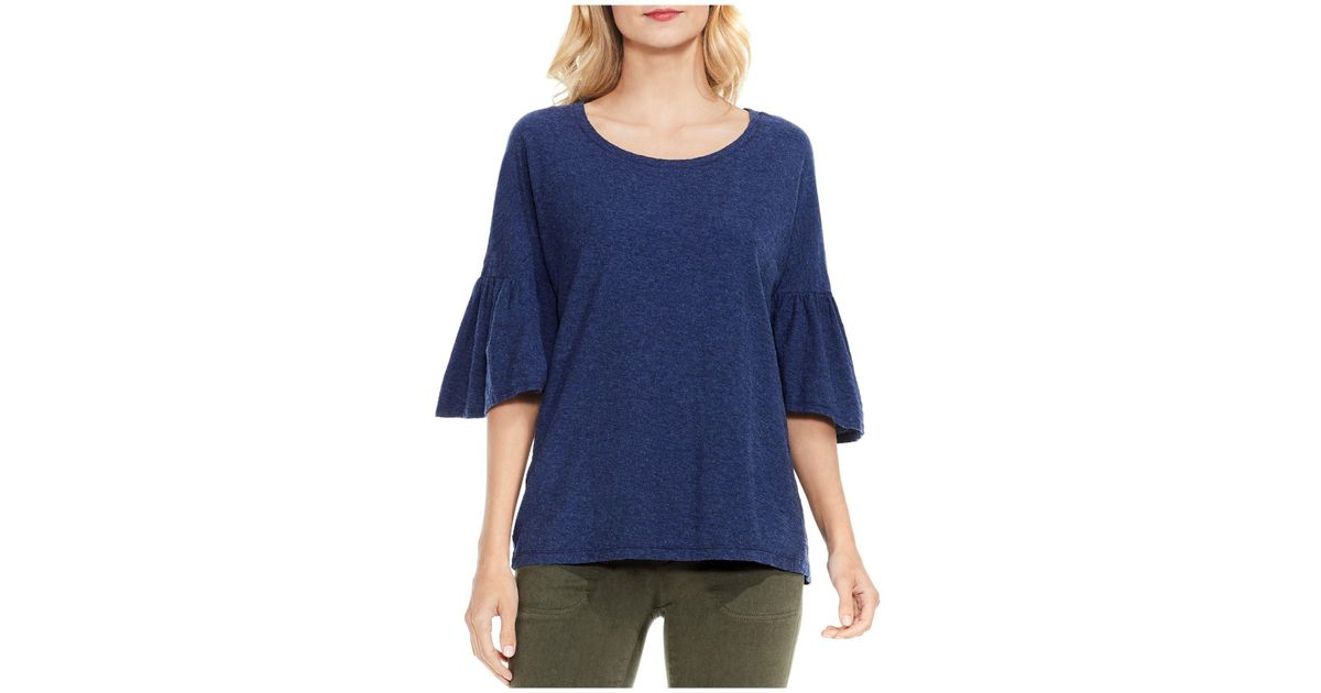 Vince Camuto Bell Sleeve Tee In Blue Lyst